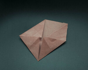 Fold the third corner to the center.