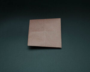 Flip over the paper and orient as square in front of you.